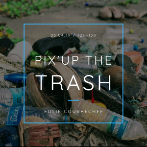 Pix'up The Trash #1 - Ramassage de déchets à la Folie Couvrechef